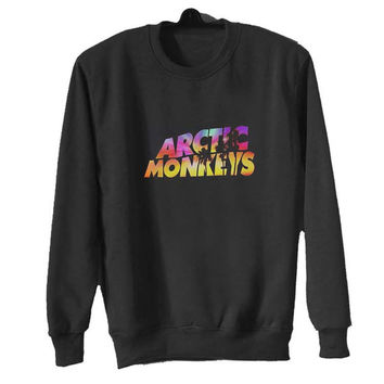 arctic monkeys logo sweater Black Sweatshirt Crewneck Men or Women for Unisex Size with variant colour