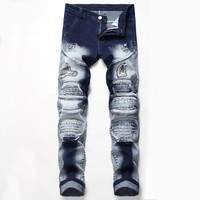 Ripped Holes Stretch Jeans [3444985364573]