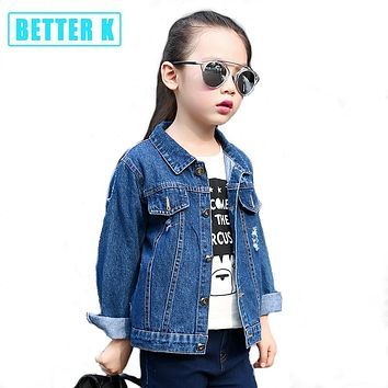 Girls Denim Jackets And Coats for girls Fashion Children Outwear jean jacket for girls Clothes Spring Autumn Kids Denim Coats