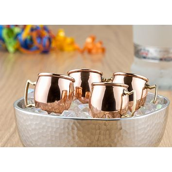 Solid Copper Moscow Mule Shot Mugs Set of 8 by Old Dutch International