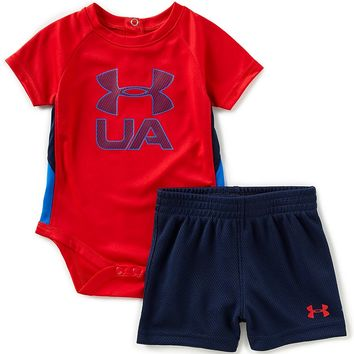 Under Armour Baby Boys Newborn-12 Months Short-Sleeve Sportster Bodysuit & Shorts Set | Dillards