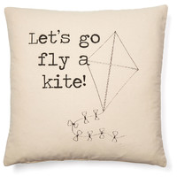 """Fly a Kite"" 20x20 Pillow, Natural, Decorative Pillows"