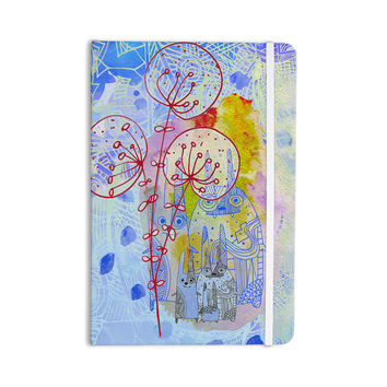 """Marianna Tankelevich """"Composition with Bunnies in Blue"""" Abstract Rabbits Everything Notebook"""