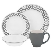 Corelle Urban Grid 16pc Dinner Set