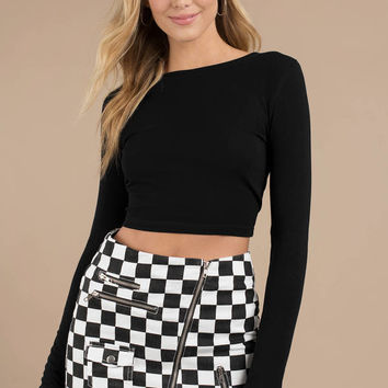 I'll Cross Your Mind Cropped Long Sleeve Top