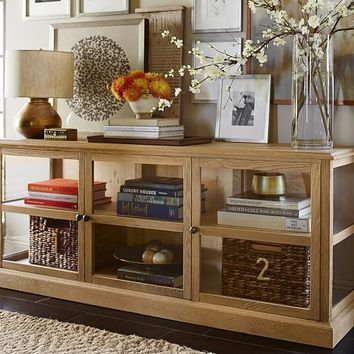 Lindley Glass Media Console