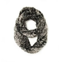 Paskmlna® Super Soft Faux Fur Warm Infinity Loop Circle Scarf -Diff Colors