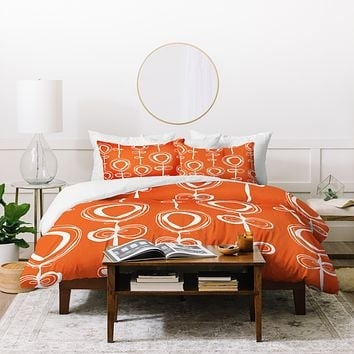 Rachael Taylor Contemporary Orange Duvet Cover