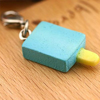 Ice Mint Stick Bar Lolly Sweet Miniature Food Cell Phone Mobile Charm Accessory Jewellery Necklace Realistic Pendant 7-ICPM-012