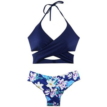 Bikini Swimsuit for Women Floral Print 2 Piece Bikini Bathing Suit