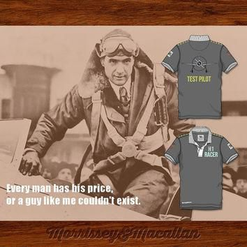Howard Hughes H1 Racer Test Pilot Polo Shirt by Morrissey&Macallan
