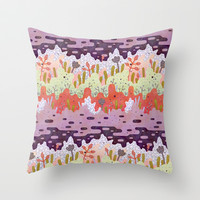 Crystal Forest Throw Pillow by Lord Of Masks