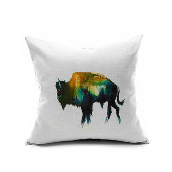 Cotton Flax Pillow Cushion Cover Animal   DW174