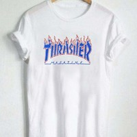 thrasher blue fire T Shirt Size XS,S,M,L,XL,2XL,3XL
