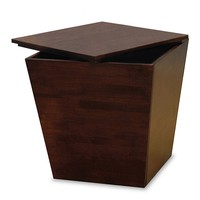 Stylish Cubic Wooden Mesa Storage End Table by Winsome Woods