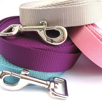 5ft Dog Leash- Choose Your Color- Solid Color Webbing