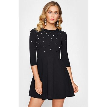 Skater Fit and Flare Mini Dress