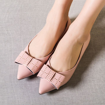 Summer Flat Stylish Pointed Toe Mosaic Butterfly Shoes [4919872004]