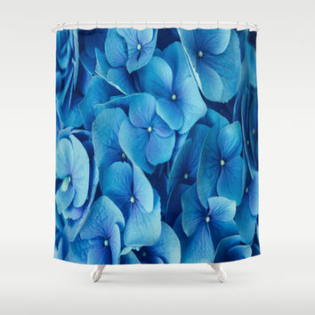 French Blue Shower Curtain by The Dreamery