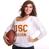 University of Southern California (USC) Trojans Burnout 3/4 T - Shirt