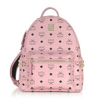 Mcm Women's Mmk7ave37pz001 Pink Pvc Backpack