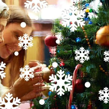 Wall Window Stickers Snowflake Christmas Xmas Vinyl Art Decoration