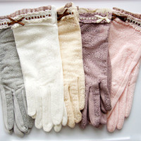 Lace Sun Gloves - Elegant Lady Lace Sheer Gloves