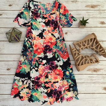 Electric Floral Sundress