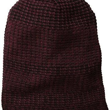 Timberland Men's Reversible Space Dye Slouchy Beanie, Port, One Size