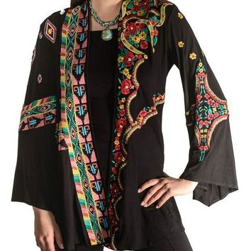 MDIGYW3 Vintage Collection Katherine Swing Jacket Black Multi