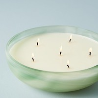 Swirled Glass Candle