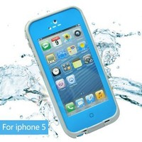 Leang Waterproof Shockproof and Dirtproof Case for iPhone 5 Life Dirt Proof Case Blue+ Cleaning Cloth