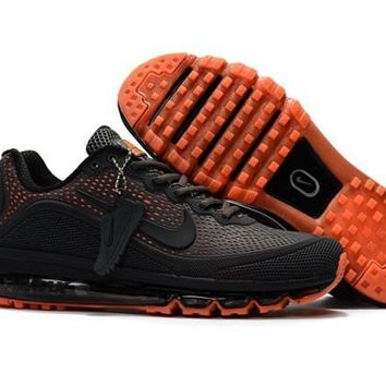 Nike Air Max 2017. 5 KPU Carbon, Gray & Orange Men's Running Shoes Sneakers