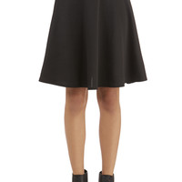 ModCloth Minimal Mid-length A-line En Pointe Accompanist Skirt in Black