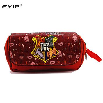 FVIP Anime Cosmetic Cases Harry Potter Pencil Case Yuri on Ice/Gravity Falls /Adventure Time/ Fairy Tail Make Up Bag