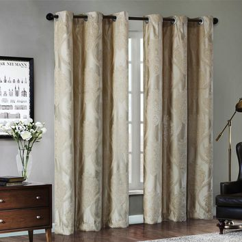 Pandora Jacquard Window Curtains Heavy Fabric with Silver Wire