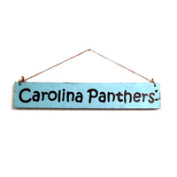 Hanging Pallet Sign - Carolina Panthers, NFC Champions, Football, Man Cave, Sports Fan, Charlotte, North Carolina, Superbowl, Reclaimed Wood