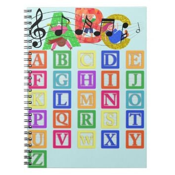 Block Letters Spiral Notebook
