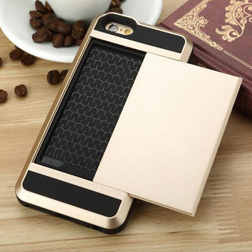 Fashion Credit Card STOWAWAY Iphone Cover Case + Gift Box