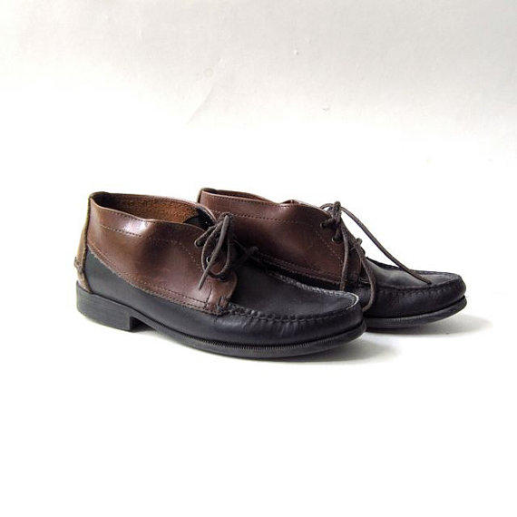 vintage leather chukka boots womens from morikovintage on