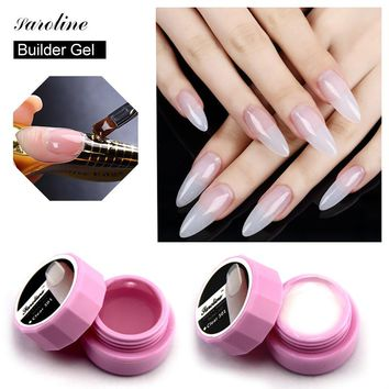 Saroline Extension Nail Gel Polish Soak Off Strong UV Builder Gel Professional led Lamp 3 color Base Manicure Nails Gel Varnish