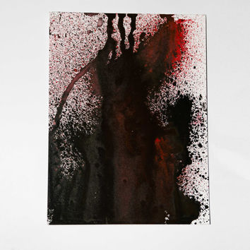 Emotional abstract painting 6x8 inches