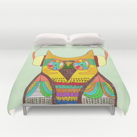 The Owl rustic song Duvet Cover by Budi Satria Kwan
