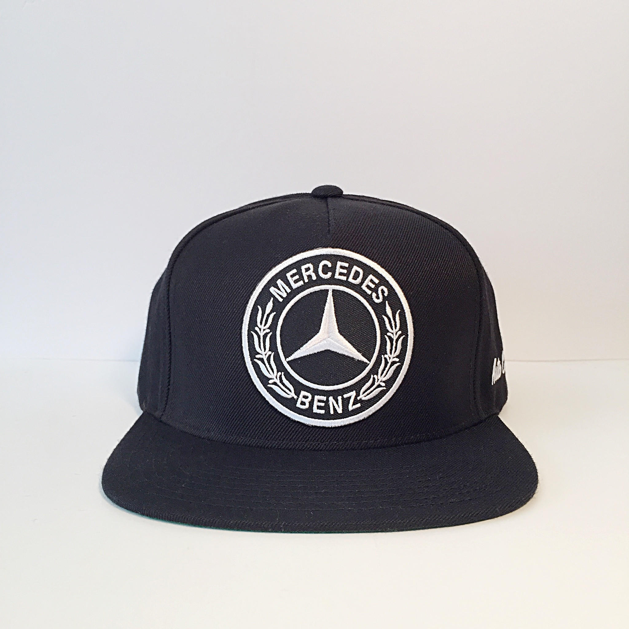 mercedes benz logo black custom snapback from bloom pepper