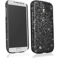 BoxWave Glamour & Glitz Galaxy S4 (S IV, SIV) Case - Slim Snap-On Galaxy S4 Glitter Case, Fun Colorful Sparkle Case for your Galaxy S4 (Black Pearl)
