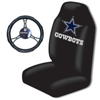 Dallas Cowboys Car Seat Cover and Steering Wheel Cover Set