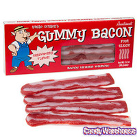 Gummy Bacon Strips: 4-Piece Box | CandyWarehouse.com Online Candy Store