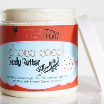 Choco Coco Body Butter Fluff - Cocoa Body Butter - 100% Vegan and Paraben Free 8oz