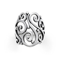 James Avery Open Sorrento Ring - Silver 8
