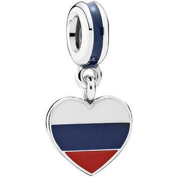 Authentic Pandora Jewelry - Heart Flag - Russia